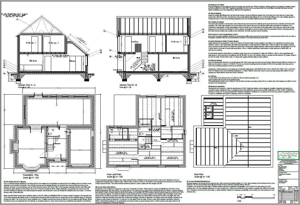 Planning to building regulations drawings online drawing uk for Construction rules and regulations