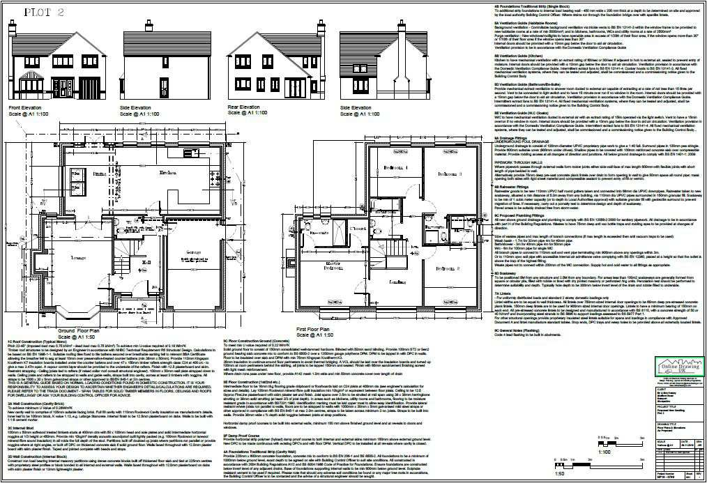 building regulations drawings online